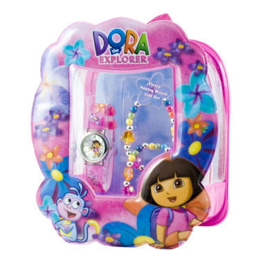 jcpenney.com | Dora Watch & Flower Bracelet Gift Set