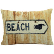 Beach Sign Decorative Pillow