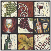 Wine and Fruit Wall Plaque