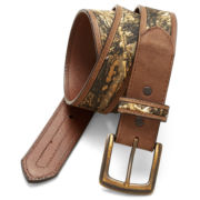 John Deere™ Camouflage Strap Leather Belt