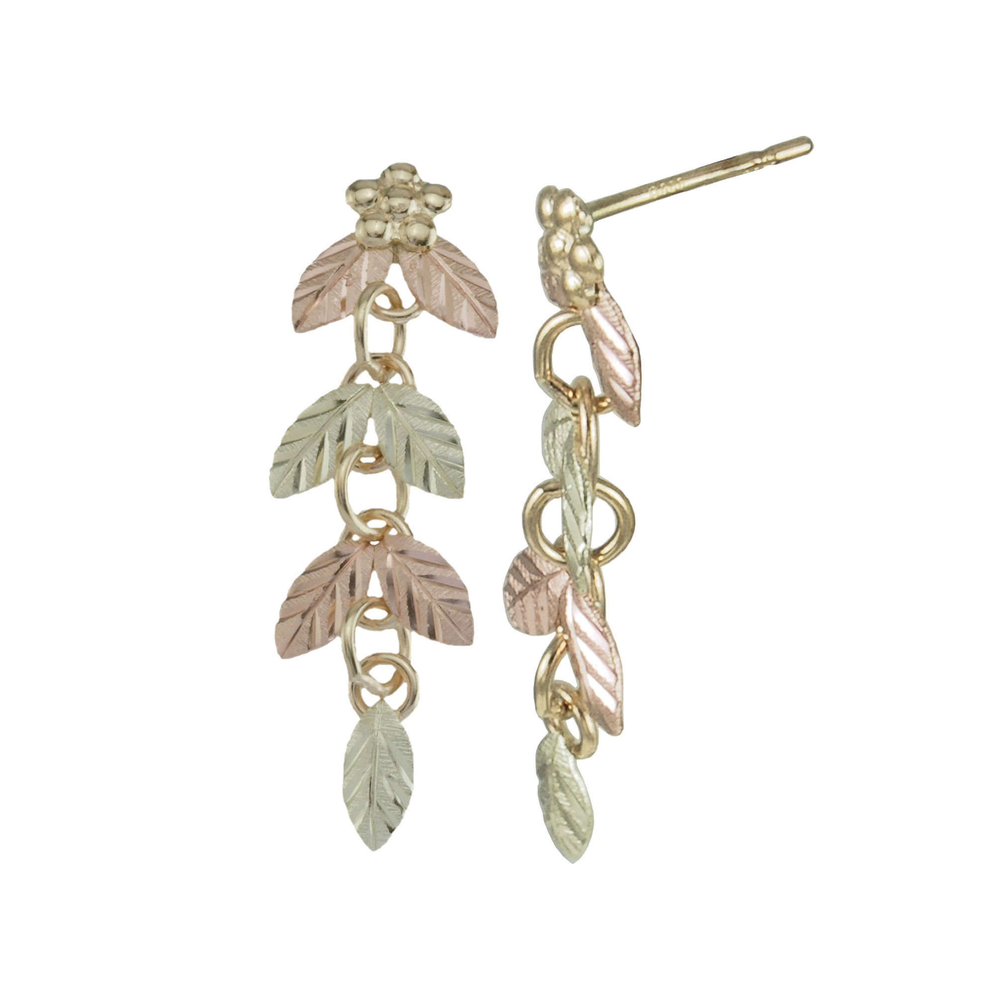 Black Hills Gold Jewelry by Coleman Linear Earrings