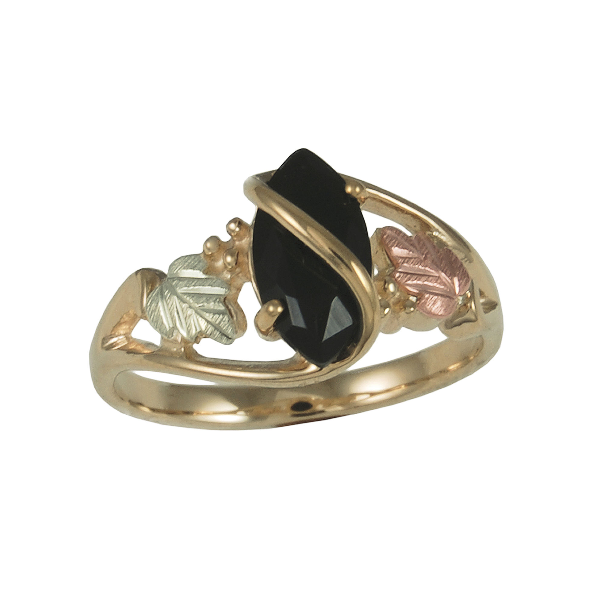 Black Hills Gold Jewelry by Coleman Onyx Ring