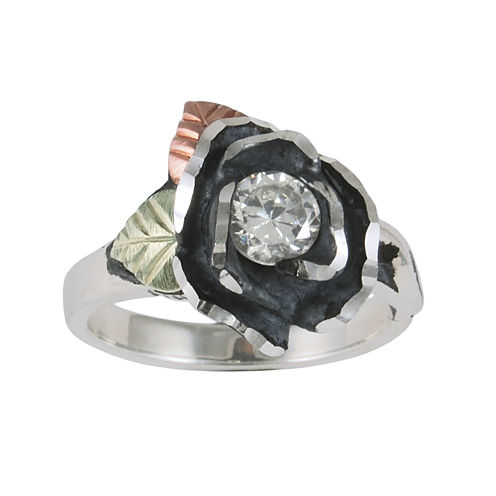 Black Hills Gold Jewelry by Coleman® Rose Cubic Zirconia Ring