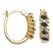 Classic Treasures™ Sapphire Hoop Earrings