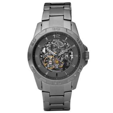 jcpenney.com | Relic® Mens Gunmetal Automatic Skeleton Watch ZR11853