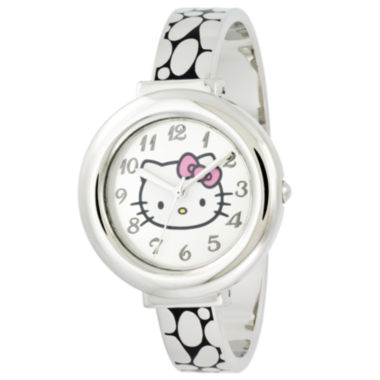 jcpenney.com | Hello Kitty® Silver-Tone Hinged Bangle Watch