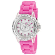 Hello Kitty® Pink Rubber with Crystal Bezel Watch