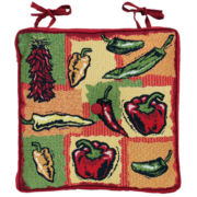 Hot Peppers Tapestry Indoor/Outdoor Chair Cushion