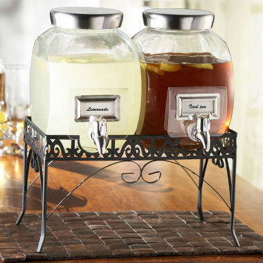 jcpenney.com | Williamsburg Double Glass Beverage Dispenser