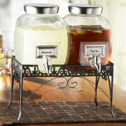 Williamsburg Double Glass Beverage Dispenser