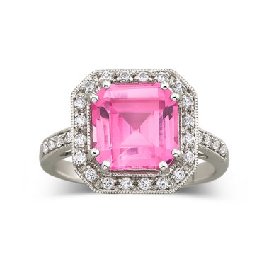 jcpenney.com | Lab-Created Pink & White Sapphire Ring