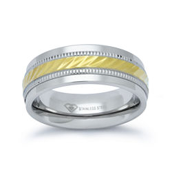 BEST VALUE! Mens 8mm Wedding Band in Stainless Steel