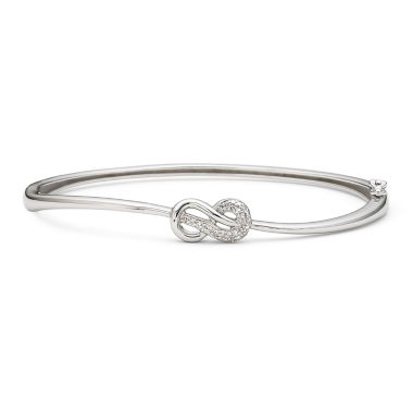 jcpenney.com | Infinite Promise 1/10 CT. T.W. Diamond Sterling Silver Bangle Bracelet