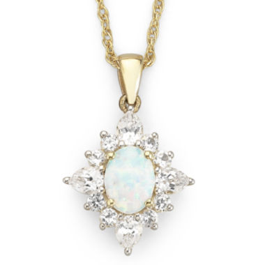 jcpenney.com | Lab Created Opal Pendant with Lab Created Sapphire Necklace