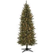 6' Pre-Lit Slim Spruce Christmas Tree