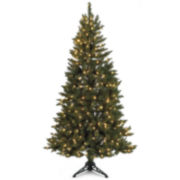6.5' Pre-lit Spruce Half-Tree Christmas Tree