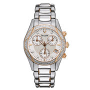 Bulova Womens Diamond-Accent Two-Tone Watch