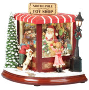 Santa Toy Shop Music Box