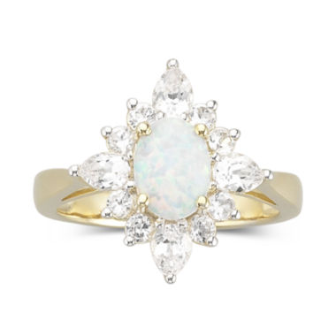 jcpenney.com | Lab Created Opal Ring with Lab Created Sapphire