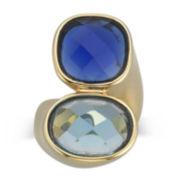 Alexandra Gem 18K Gold-Plated Lab-Created Quartz & Aquamarine Ring