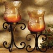 Rustica Set of 2 Hurricane Candle Holders