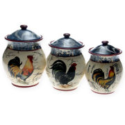 3-pc. Lille Rooster Canister Set