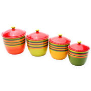 4-pc. Hot Tamales Canister Set