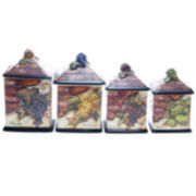 4-pc. Wine Cellar Canister Set