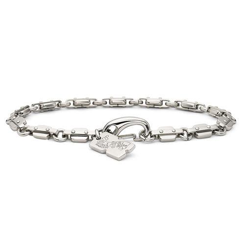 Men's Razor Link Bracelet Stainless Steel