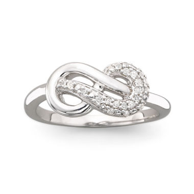 jcpenney.com | Infinite Promise 1/10 CT. T.W. Sterling Silver Diamond Ring
