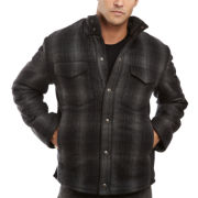 Wool Buffalo Plaid Shirt Jacket