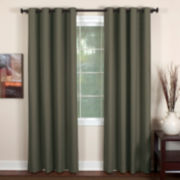 Essex Linen-Blend Grommet-Top Curtain Panel