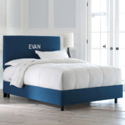 Evan Upholstered Monogrammed Headboard or Bed