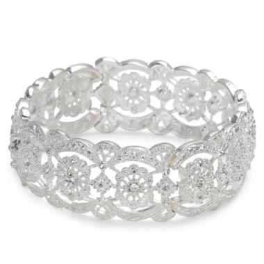 jcpenney.com | Vieste® Crystal Lace-Look Stretch Bracelet