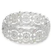 Vieste Crystal-Accent Lace-Look Stretch Bracelet