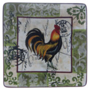 Certified International Lille Rooster Set of 4 Plates