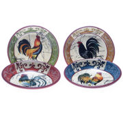 Certified International Lille Rooster Set of 4 Bowls