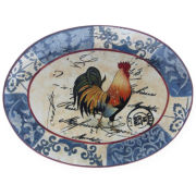Certified International Lille Rooster Serving Platter