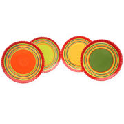 Certified International Hot Tamales Set of 4 Dinner Plates