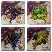 Certified International Wine Cellar Set of 4 Salad Plates
