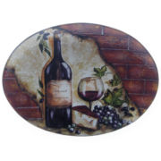 Certified International Wine Cellar Oval Serving Platter