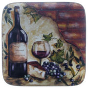 Certified International Wine Cellar Square Serving Platter