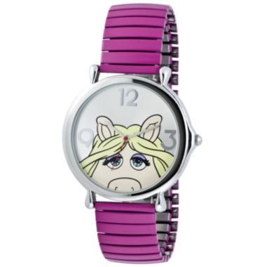 jcpenney.com | Muppets Miss Piggy Pink Expansion Band Watch