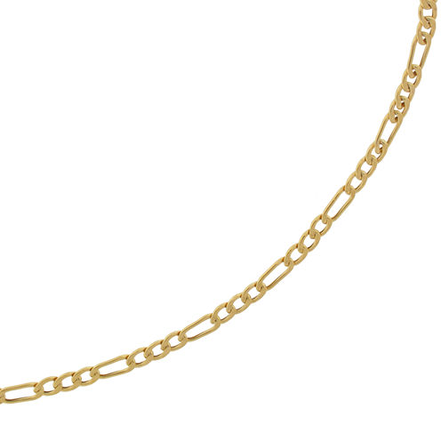 """Made in Italy 10K Yellow Gold 2.9mm 20-22"""" Hollow Figaro Chain"""