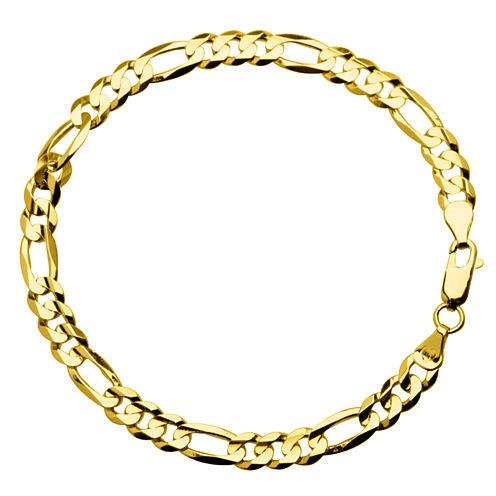 "10K Yellow Gold 8"" Figaro Bracelet"