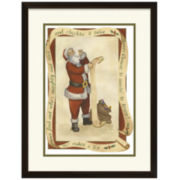 Santa's List Framed Print