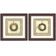 Navidad Set of 2 Framed Prints