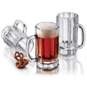 Libbey® Set of 4 Glass Beer Mugs