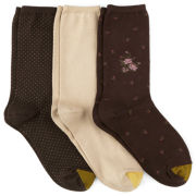 Gold Toe® 3 Pair Patterned Dress Socks