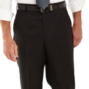 Stafford® Signature Black Gabardine Flat-Front Suit Pants–Big & Tall